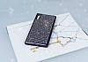 Eiroo Sony Xperia XZ Taşlı Siyah Silikon Kılıf - Resim 1