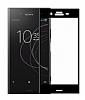 Eiroo Sony Xperia XZ1 Curve Tempered Glass Full Siyah Cam Ekran Koruyucu - Resim 1