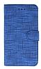 Eiroo Tabby General Mobile GM 20 Cüzdanlı Kapaklı Mavi Deri Kılıf