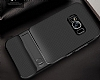 Eiroo Tiger Power Samsung Galaxy S8 Plus Standlı Ultra Koruma Siyah Kılıf - Resim 2