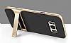 Eiroo Tiger Power Samsung Galaxy S8 Standlı Ultra Koruma Gold Kılıf - Resim 1