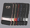 Eiroo Tiger Power Samsung Galaxy S8 Standlı Ultra Koruma Kırmızı Kılıf - Resim 4