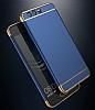 Eiroo Trio Fit Huawei P10 3ü 1 Arada Gold Kenarlı Siyah Rubber Kılıf - Resim 5