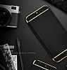 Eiroo Trio Fit Huawei P10 3ü 1 Arada Gold Kenarlı Siyah Rubber Kılıf - Resim 6