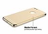 Eiroo Trio Fit iPhone 6 / 6S 3ü 1 Arada Gold Kenarlı Gold Rubber Kılıf - Resim 3