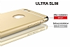 Eiroo Trio Fit iPhone 6 / 6S 3ü 1 Arada Gold Kenarlı Gold Rubber Kılıf - Resim 2