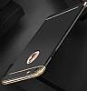 Eiroo Trio Fit iPhone 6 / 6S 3ü 1 Arada Gold Kenarlı Siyah Rubber Kılıf - Resim 3