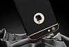 Eiroo Trio Fit iPhone 6 / 6S 3ü 1 Arada Gold Kenarlı Siyah Rubber Kılıf - Resim 5