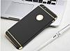 Eiroo Trio Fit iPhone 6 Plus / 6S Plus 3ü 1 Arada Gold Kenarlı Siyah Rubber Kılıf - Resim 6