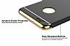 Eiroo Trio Fit iPhone 6 Plus / 6S Plus 3ü 1 Arada Gold Kenarlı Siyah Rubber Kılıf - Resim 3