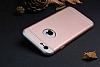 Eiroo Trio Fit iPhone 6 Plus / 6S Plus 3ü 1 Arada Rose Gold Rubber Kılıf - Resim: 1