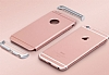 Eiroo Trio Fit iPhone 6 Plus / 6S Plus 3ü 1 Arada Rose Gold Rubber Kılıf - Resim: 3