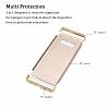 Eiroo Trio Fit Samsung Galaxy Note 8 3ü 1 Arada Gold Rubber Kılıf - Resim 1