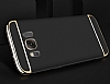 Eiroo Trio Fit Samsung Galaxy S8 3ü 1 Arada Gold Rubber Kılıf - Resim 1