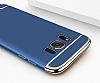 Eiroo Trio Fit Samsung Galaxy S8 3ü 1 Arada Mavi Rubber Kılıf - Resim 3