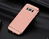 Eiroo Trio Fit Samsung Galaxy S8 Plus 3ü 1 Arada Rose Gold Rubber Kılıf - Resim 4