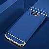 Eiroo Trio Fit Samsung Galaxy S8 Plus 3ü 1 Arada Lacivert Rubber Kılıf - Resim 4