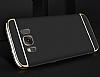 Eiroo Trio Fit Samsung Galaxy S8 3ü 1 Arada Silver Rubber Kılıf - Resim 1