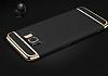 Eiroo Trio Fit Samsung Galaxy S8 Plus 3ü 1 Arada Gold Rubber Kılıf - Resim 3