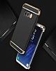 Eiroo Trio Fit Samsung Galaxy S8 Plus 3ü 1 Arada Gold Rubber Kılıf - Resim 2