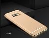 Eiroo Trio Fit Samsung Galaxy S8 Plus 3ü 1 Arada Gold Rubber Kılıf - Resim 1