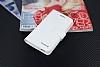 Eiroo Vodafone Smart 6 Prime Cüzdanlı Yan Kapaklı Beyaz Deri Kılıf - Resim 3