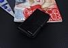 Eiroo Vodafone Smart 7 Style Cüzdanlı Yan Kapaklı Siyah Deri Kılıf - Resim 3