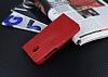 Eiroo Vodafone Smart 7 Style Cüzdanlı Yan Kapaklı Kırmızı Deri Kılıf - Resim 3