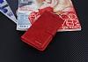 Eiroo Vodafone Smart 7 Style Cüzdanlı Yan Kapaklı Kırmızı Deri Kılıf - Resim 4