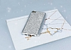 Eiroo Xiaomi Mi 5 Taşlı Silver Silikon Kılıf - Resim 1