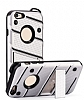 Eiroo Zag Armor iPhone 6 Plus / 6S Plus Standlı Ultra Koruma Silver Kılıf - Resim 4