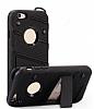 Eiroo Zag Armor iPhone 6 Plus / 6S Plus Standlı Ultra Koruma Siyah Kılıf - Resim 4