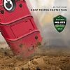 Eiroo Zag Armor iPhone 7 Plus / 8 Plus Standlı Ultra Koruma Kırmızı Kılıf - Resim 3