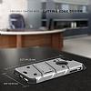 Eiroo Zag Armor iPhone 7 Plus / 8 Plus Standlı Ultra Koruma Silver Kılıf - Resim 3