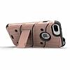 Eiroo Zag Armor iPhone 7 Plus / 8 Plus Standlı Ultra Koruma Gold Kılıf - Resim 1