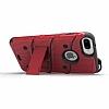 Eiroo Zag Armor iPhone 7 Plus / 8 Plus Standlı Ultra Koruma Kırmızı Kılıf - Resim 2
