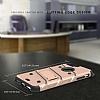 Eiroo Zag Armor iPhone 7 Plus / 8 Plus Standlı Ultra Koruma Gold Kılıf - Resim 3
