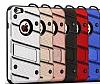 Eiroo Zag Armor iPhone 7 Standlı Ultra Koruma Lacivert Kılıf - Resim 3