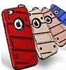 Eiroo Zag Armor iPhone 7 Standlı Ultra Koruma Lacivert Kılıf - Resim 2