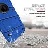 Eiroo Zag Armor iPhone 7 Standlı Ultra Koruma Lacivert Kılıf - Resim 1