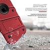 Eiroo Zag Armor iPhone SE / 5 / 5S Standlı Ultra Koruma Kırmızı Kılıf - Resim 1