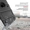 Eiroo Zag Armor iPhone SE / 5 / 5S Standlı Ultra Koruma Silver Kılıf - Resim 1