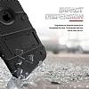 Eiroo Zag Armor iPhone SE / 5 / 5S Standlı Ultra Koruma Siyah Kılıf - Resim 1