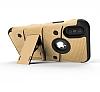 Eiroo Zag Armor iPhone X Standlı Ultra Koruma Gold Kılıf - Resim 3