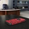 Eiroo Zag Armor iPhone X Standlı Ultra Koruma Kırmızı Kılıf - Resim 4