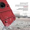 Eiroo Zag Armor iPhone X Standlı Ultra Koruma Kırmızı Kılıf - Resim 2