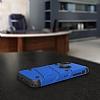 Eiroo Zag Armor iPhone X Standlı Ultra Koruma Lacivert Kılıf - Resim 4