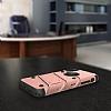 Eiroo Zag Armor iPhone X Standlı Ultra Koruma Rose Gold Kılıf - Resim 4