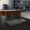 Eiroo Zag Armor iPhone X Standlı Ultra Koruma Silver Kılıf - Resim 3