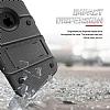 Eiroo Zag Armor iPhone X Standlı Ultra Koruma Silver Kılıf - Resim 1